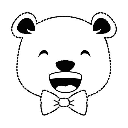 Projeto de ilustração de vetor de personagem bonito urso Foto de archivo - 91391006