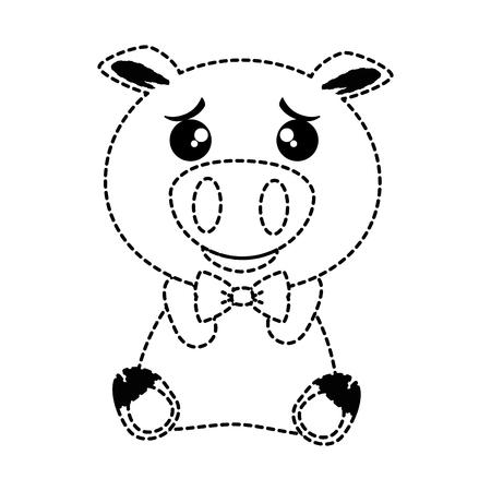cute pig emoji  vector illustration design Illustration