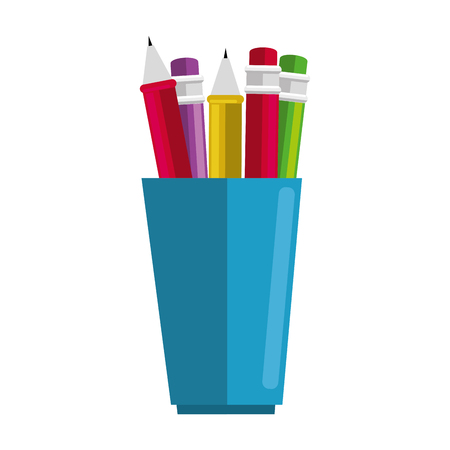 pencil holders isolated icon vector illustration design 版權商用圖片 - 91394942