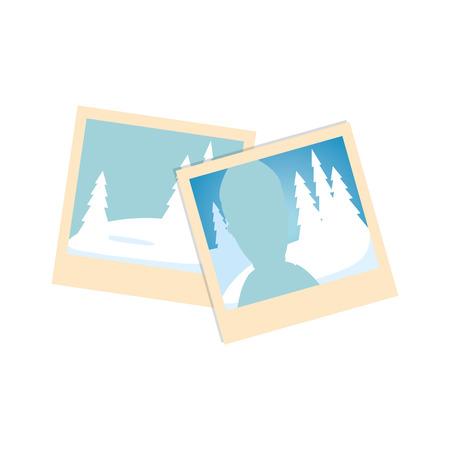 사진 사진 절연 아이콘 벡터 일러스트 디자인