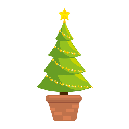 christmas tree isolated icon vector illustration design Imagens - 91394972