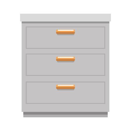 Progettazione dell'illustrazione di vettore dell'icona isolata cassetto dell'ufficio Archivio Fotografico - 91395996