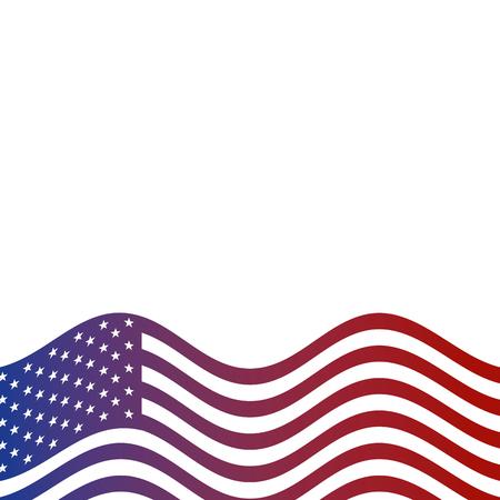 アメリカ合衆国国旗国旗国境ベクトルイラスト
