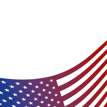 united states of america flag corner card decoration vector illustration