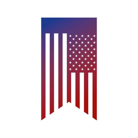 bunting united states of america flag symbol vector illustration 向量圖像