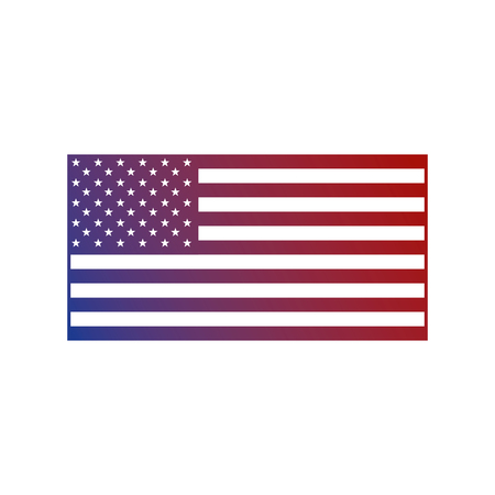 united states of america flag national insignia patrotism vector illustration Illustration