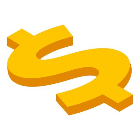 ドル歌アイソメトリック通貨ベクトルイラスト