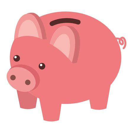 돼지 저금통 보안 돈을 아이소 메트릭 벡터 일러스트 저장