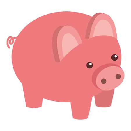 piggy bank security saving money isometric vector illustration