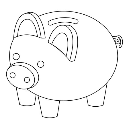 piggy bank security saving money isometric vector illustration
