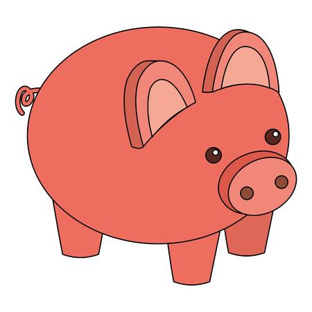 돼지 저금통 보안 돈을 아이소 메트릭 벡터 일러스트 저장 스톡 콘텐츠 - 91396071