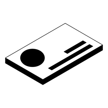 bank credit card debit isometric symbol vector illustration black image
