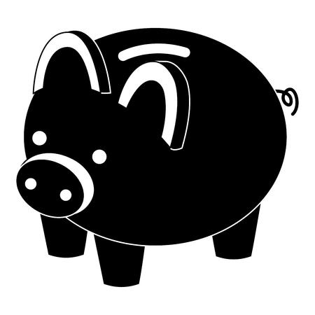 돼지 저금통 보안 돈을 아이소 메트릭 벡터 그림 그림을 저장