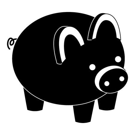 piggy bank security saving money isometric vector illustration pictogram