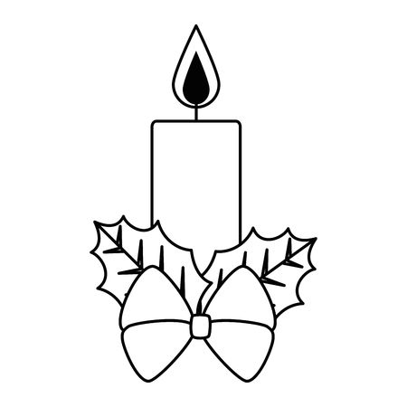 christmas candles decorative icon vector illustration design Ilustração