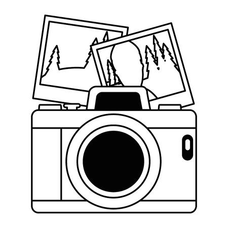 写真ベクトルイラストデザインとカメラ写真  イラスト・ベクター素材
