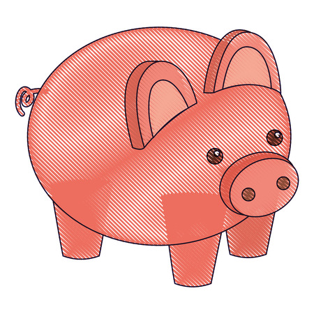 piggy bank security saving money isometric vector illustration drawing 版權商用圖片 - 91398312