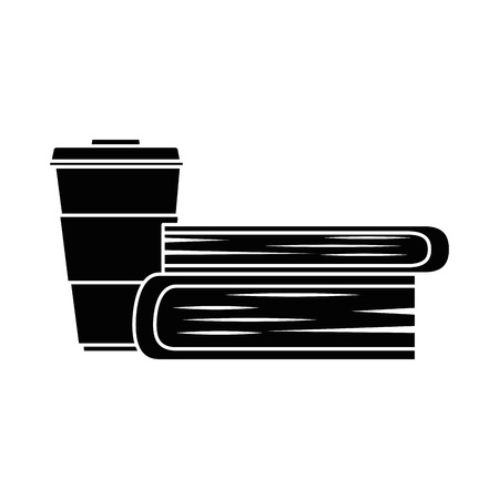 books school with coffee cup vector illustration design
