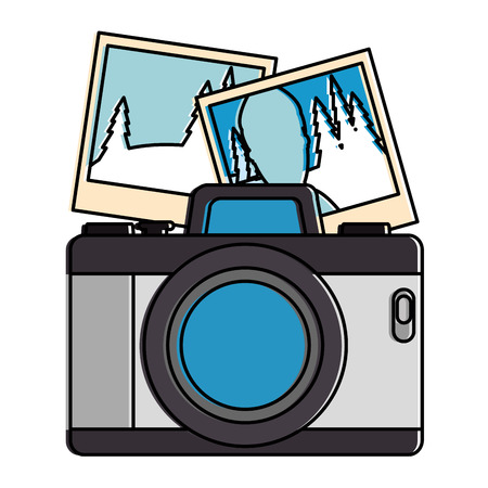 Camera photographic with pictures vector illustration design Stock fotó - 91398431