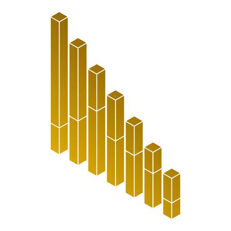 bars statistics isometric financial graph vector illustration Illustration