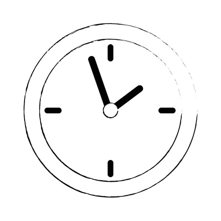 Time clock isolated icon illustration design.