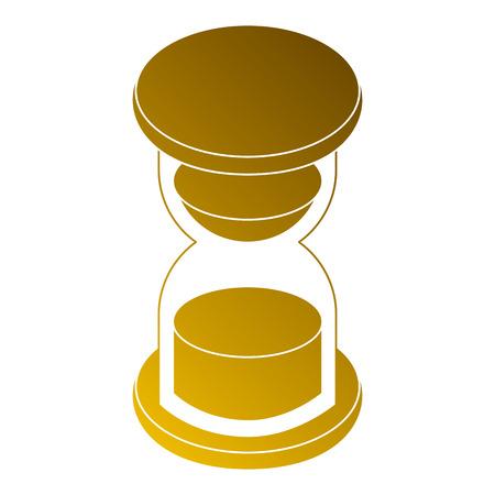 Bedrijfsuur glas zand tijd isometrische illustratie.