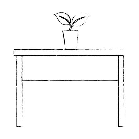 식물 아이콘 그림 디자인 테이블입니다.