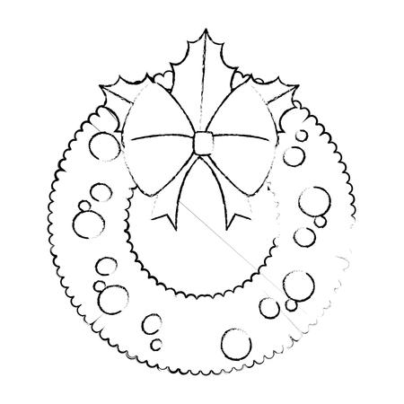 Christmas crown decorative icon illustration graphic design.
