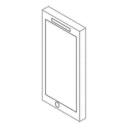 Mobile phone device illustration. Illusztráció