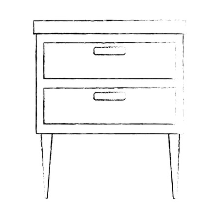 Office drawer isolated icon illustration design.