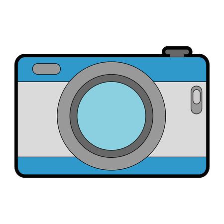 Het camera geïsoleerde ontwerp van de pictogramillustratie. Stock Illustratie