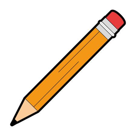 Het potlood schrijft het geïsoleerde ontwerp van de pictogramillustratie. Vector Illustratie