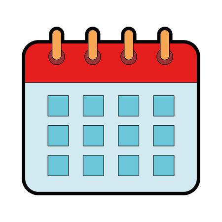 Calendar isolated icon illustration design.