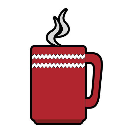 Coffee mug isolated icon illustration design.