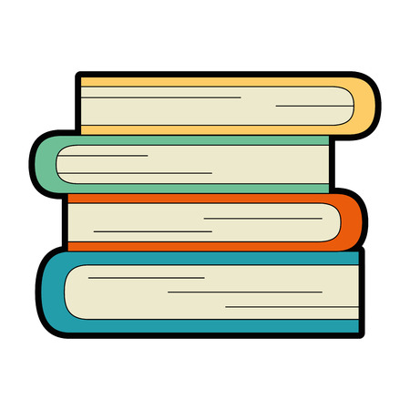 Books school isolated icon illustration design.