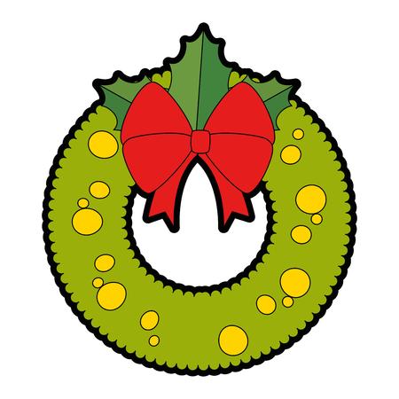 Christmas crown decorative icon illustration design. Illustration