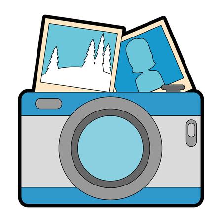camera photographic with pictures vector illustration design Illusztráció