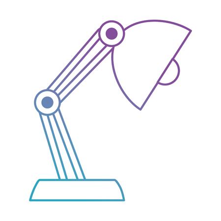 desk lamp isolated icon vector illustration design