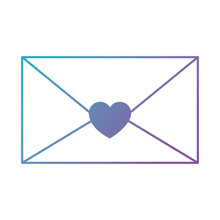mail envelope with heart vector illustration design Çizim
