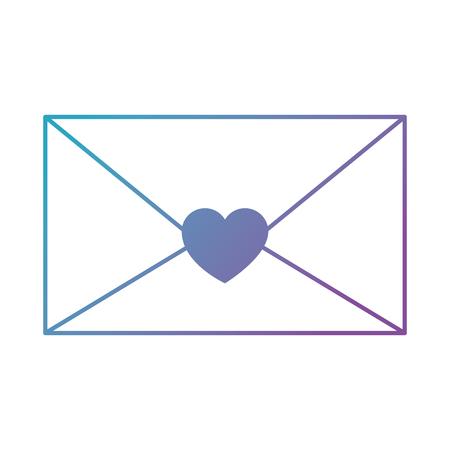 mail envelope with heart vector illustration design Illustration