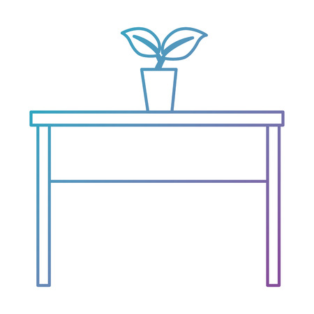 table with plant icon vector illustration design
