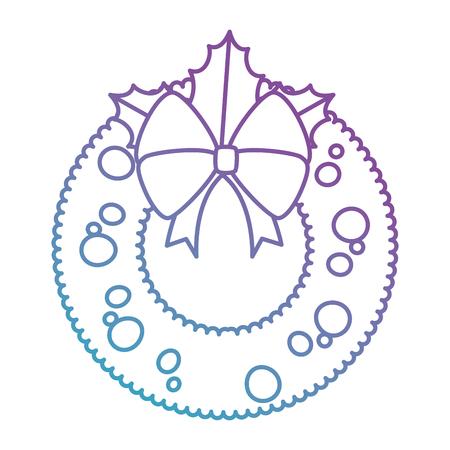 christmas crown decorative icon vector illustration design Illusztráció