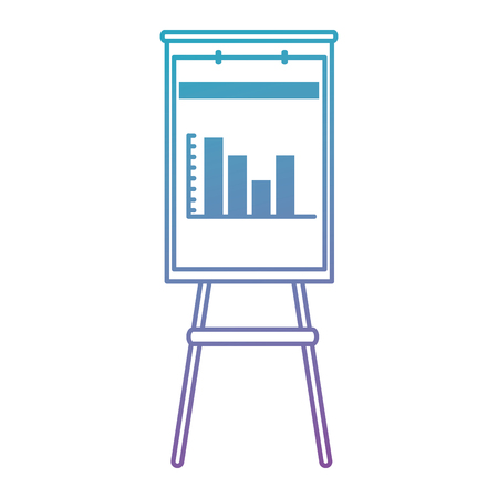 paperboard with statistics icon vector illustration design