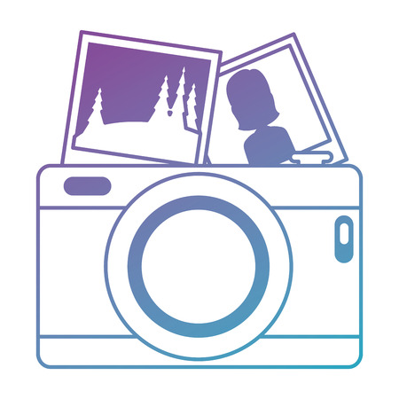 camera photographic with pictures vector illustration design Ilustração