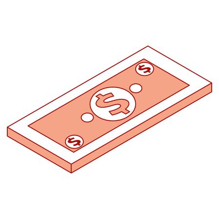 金同数紙幣ドル現金ベクトルイラスト  イラスト・ベクター素材