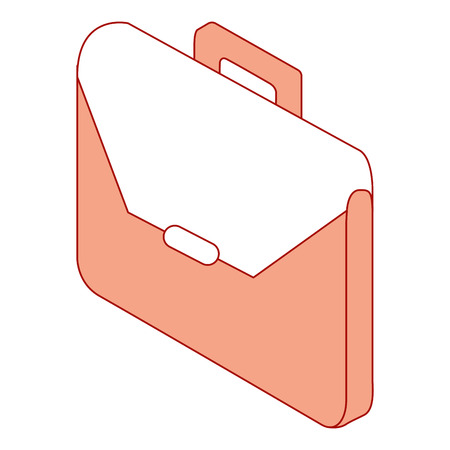 business briefcase isometric accessory object vector illustration pink design