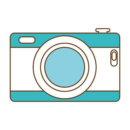 カメラ写真分離アイコンベクトルイラストデザイン