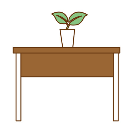 A table with plant icon vector illustration design