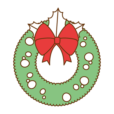 A christmas crown decorative icon vector illustration design