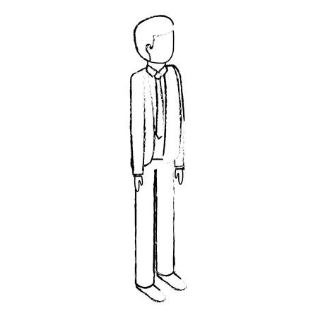 Geschäftsmann isometrischen Charakter männlichen Erwachsenen Vektor-Illustration Sketck Standard-Bild - 91416334